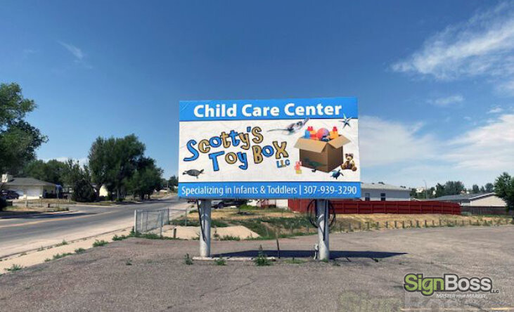Billboard Skin for Day Care Center in Gillette WY
