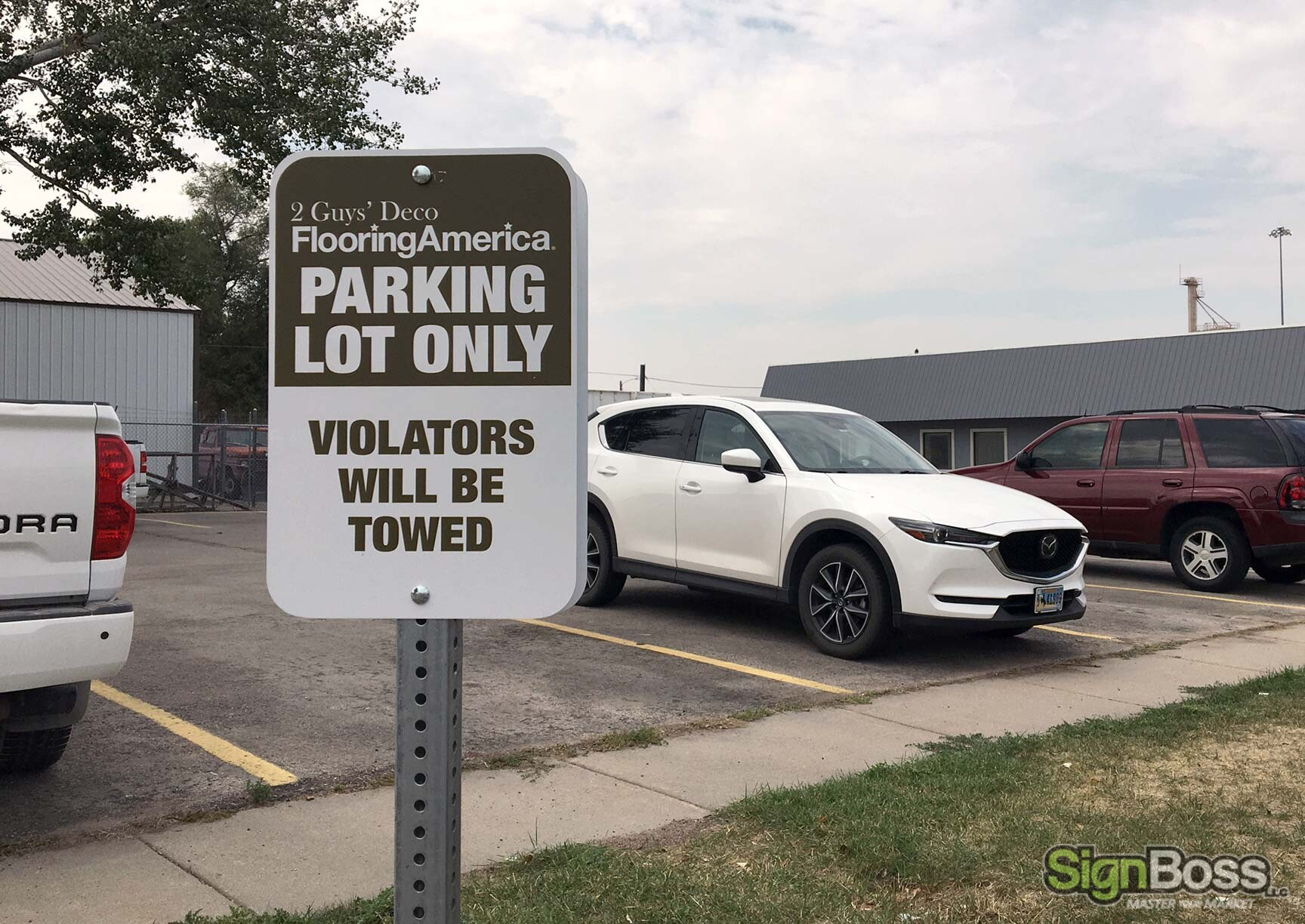 Reserved Parking Lot Signs in Gillette WY