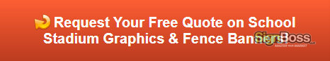 Free quote on school stadium graphics and fence banners