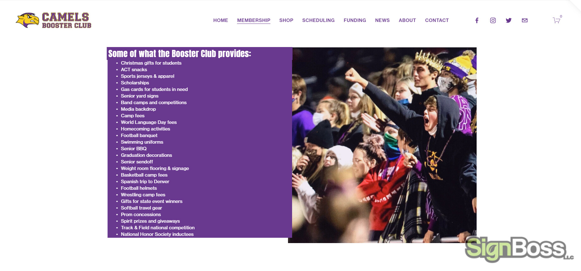 Get a Website for your School from SignBoss in Gillette WY