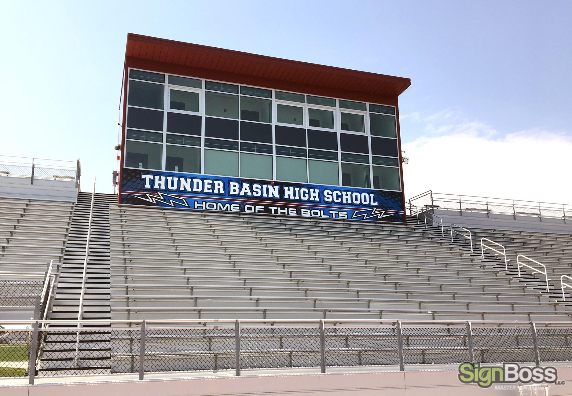 School spirit stadium graphics and fence banners in Gillette WY