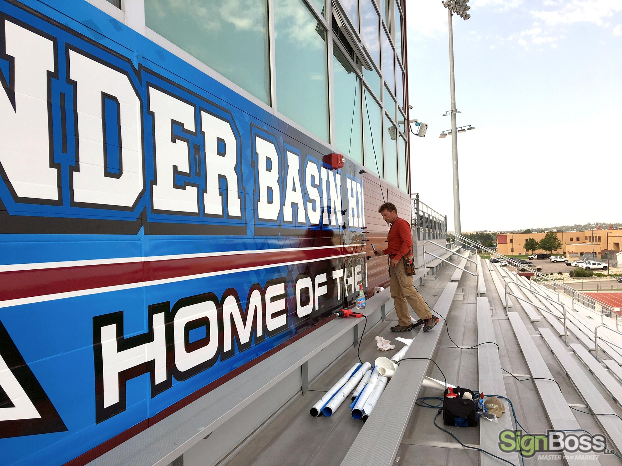 Stadium Graphics Installed by Our 3M Preferred Installers in Gillette WY