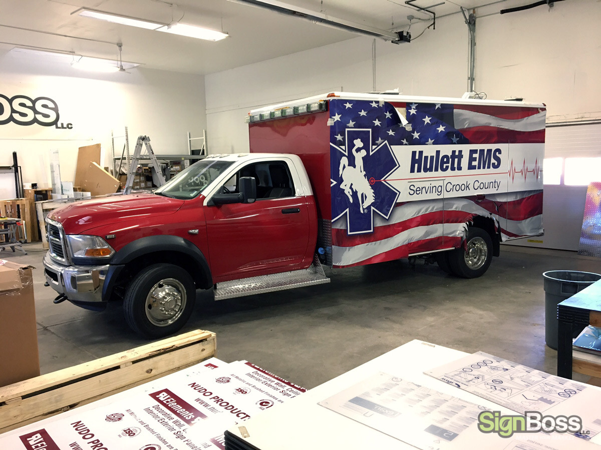 Ambulance Wraps in Crook County WY