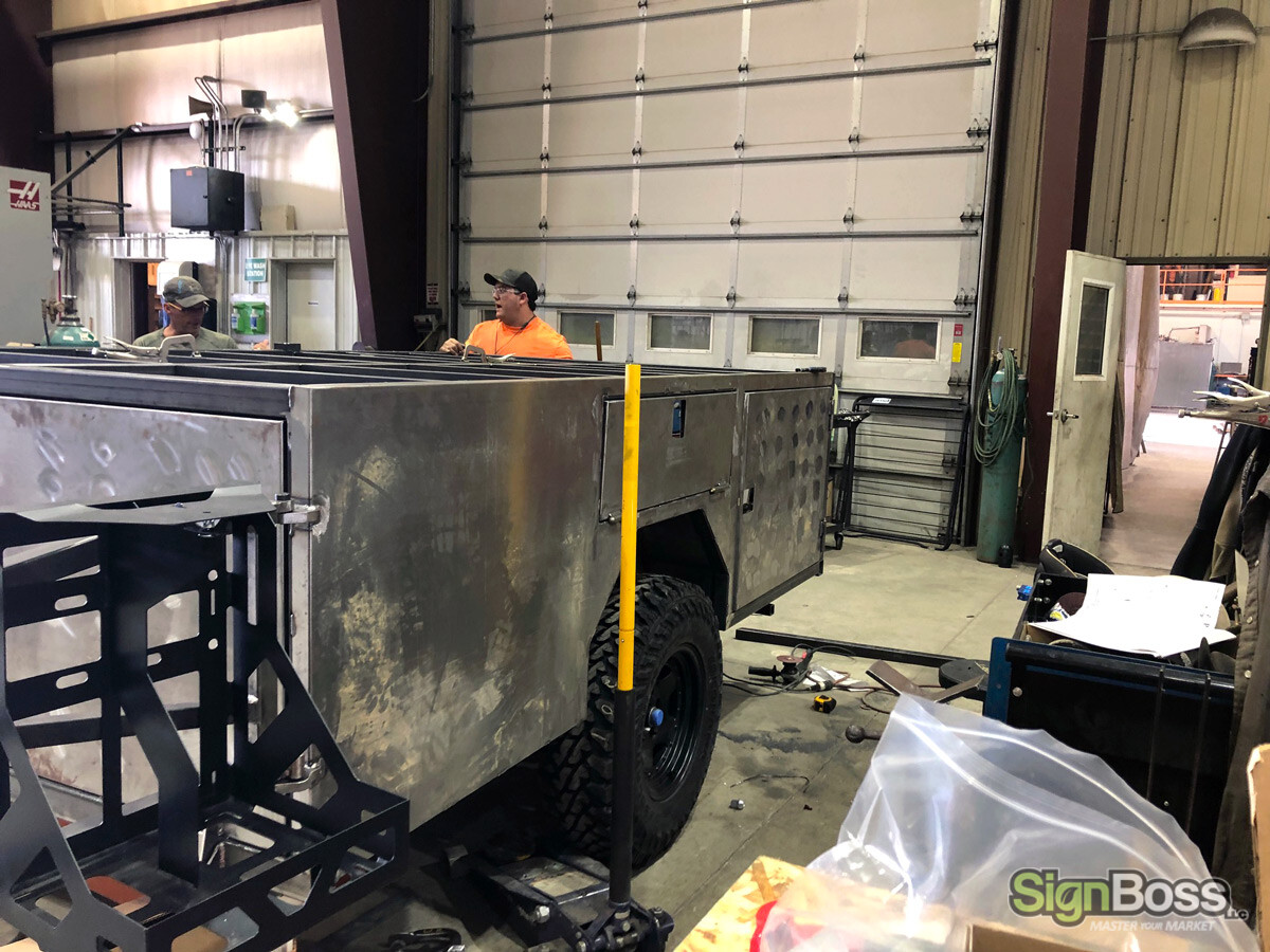 Modified Camper Fabrication with decals in Sheridan WY