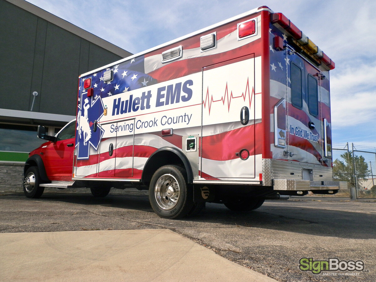 Vehicle Wraps and Graphics for Ambulances in Hulett WY
